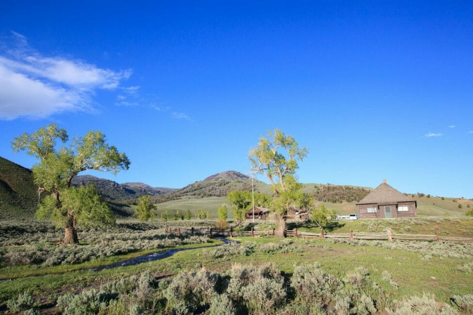 The Historic Western Lamar Buffalo Ranch Sits In The Lamar Valley In Yellowstone National Park