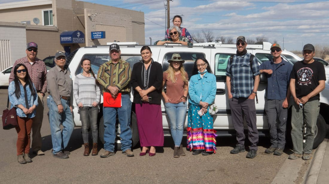 Fort Peck Pte Group Gathers For Reception Of Yellowstone Safari Company Vehicle Donation In Wolf Point Montana